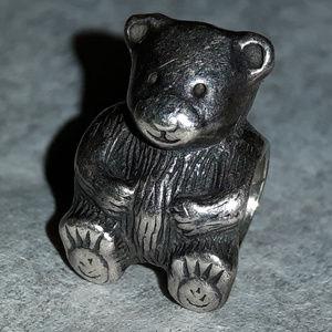 AUTHENTIC PANDORA CHARM TEDDY BEAR 925 ALE
